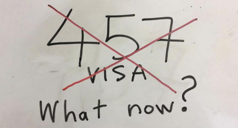 Death of 457 visa